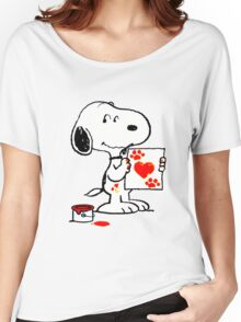 snoopy drawing Women's Relaxed Fit T-Shirt