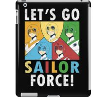 Let's Go Sailor Force iPad Case/Skin