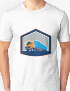 Container Truck and Trailer Shield Retro Unisex T-Shirt