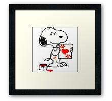 snoopy drawing Framed Print