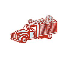 Vintage Pickup Truck Delivery Harvest Retro by patrimonio