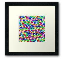 Mini rainbow hamster Framed Print