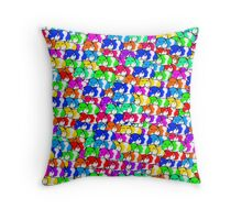 Mini rainbow hamster Throw Pillow