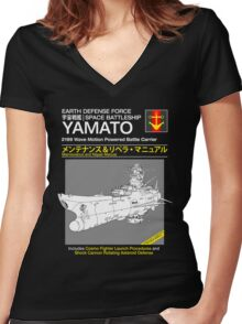 Battleship Yamoto Service and Repair Manual Women's Fitted V-Neck T-Shirt
