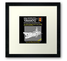 Battleship Yamoto Service and Repair Manual Framed Print