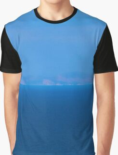 Blue sea and sky horizon background Graphic T-Shirt
