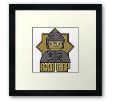 Lego Bad Cop Police Framed Print