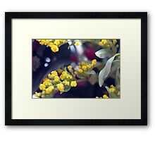 Natural background made in watercolor style with colorful flowers. Framed Print