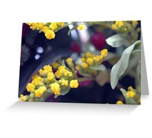 Natural background made in watercolor style with colorful flowers. Greeting Card