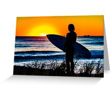Sunset Beach Surfer Greeting Card