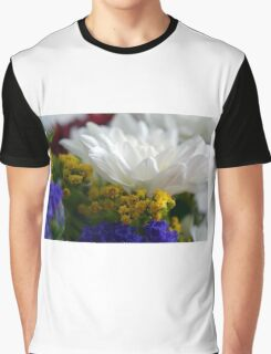 White flower macro, natural background. Graphic T-Shirt