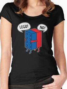 Lego No Women's Fitted Scoop T-Shirt