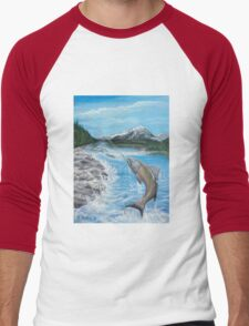 Pacific Northwest catch of the Day Men's Baseball ¾ T-Shirt