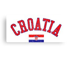 Croatia Flag Vintage Canvas Print