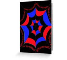 The Amazing Quoting Spider Greeting Card