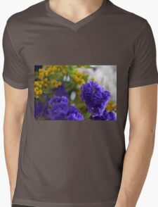 Purple flowers, nature background. Mens V-Neck T-Shirt