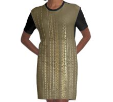 Golden Falloff Graphic T-Shirt Dress