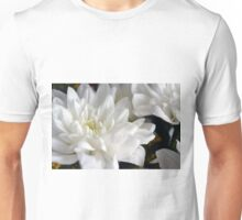 White flowers macro, natural background. Unisex T-Shirt