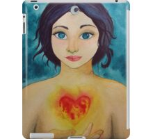 """The head is too wise. The heart is all Fire"" iPad Case/Skin"
