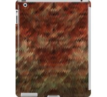 Red and green triangle texture iPad Case/Skin