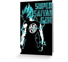 Super Saiyan God Greeting Card