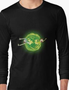 Rick And Morty Spin Long Sleeve T-Shirt