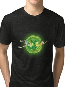 Rick And Morty Spin Tri-blend T-Shirt