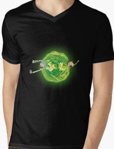Rick And Morty Spin Mens V-Neck T-Shirt