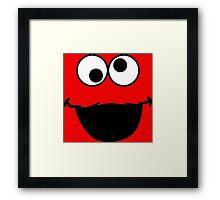 Elmo Face Framed Print
