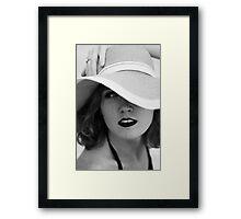 shaded looks Framed Print