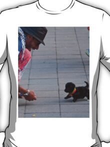 Ecuador. Quito. Man and his Puppy. T-Shirt