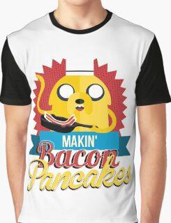 Makin Bacon Pancakes - Adventure Time Jake Graphic T-Shirt