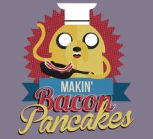 Makin Bacon Pancakes - Adventure Time Jake Kids Tee