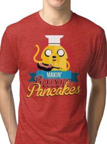 Makin Bacon Pancakes - Adventure Time Jake Tri-blend T-Shirt