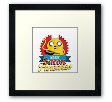 Makin Bacon Pancakes - Adventure Time Jake Framed Print