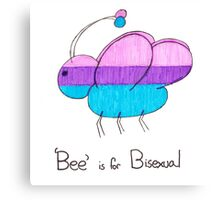 'Bee' is for Bisexual Canvas Print