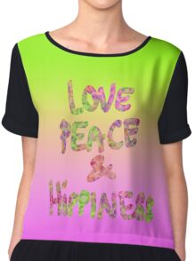 Love Peace & Hippiness Chiffon Top