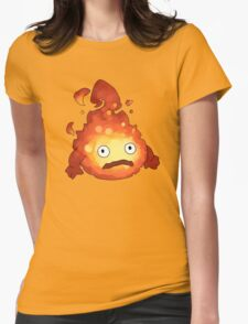 howl  fire  castle Womens Fitted T-Shirt