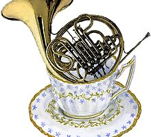 French Horn Tea Lover by didielicious