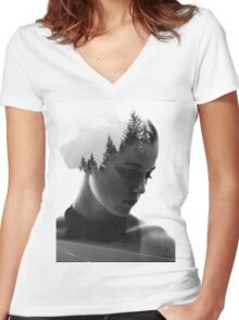 Branching Women's Fitted V-Neck T-Shirt