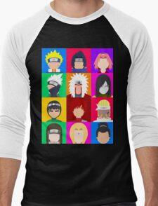 Animecons Men's Baseball ¾ T-Shirt