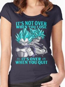 It's over when you QUIT not when you lose Women's Fitted Scoop T-Shirt