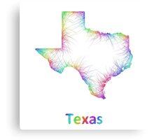 Rainbow Texas map Canvas Print