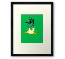 Bulba Fett (Star Wars and Pokemon Parody) Framed Print