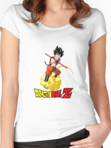 Dragon Ball Z - Son Goku with Kinton Cloud Women's Fitted Scoop T-Shirt