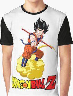Dragon Ball Z - Son Goku with Kinton Cloud Graphic T-Shirt