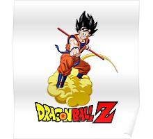 Dragon Ball Z - Son Goku with Kinton Cloud Poster