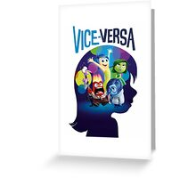 VICE-VERSA INSIDE OUT Greeting Card