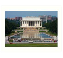 Lincoln Memorial and Reflecting Pool Art Print