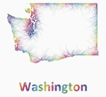 Rainbow Washington map One Piece - Short Sleeve